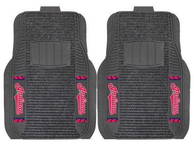 Cleveland Indians Fan Mats 2 Piece Deluxe Car Mat Set