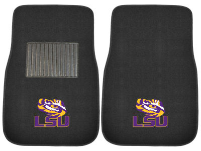 LSU Tigers Fan Mats 2-Piece Embroidered Car Mat Set