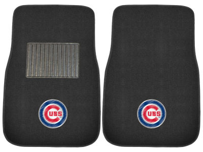 Chicago Cubs Fan Mats 2-Piece Embroidered Car Mat Set