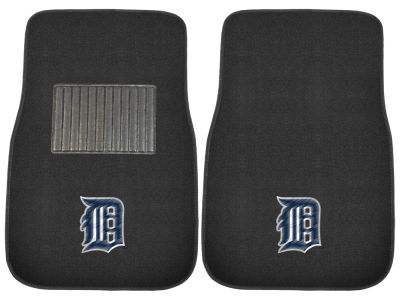 Detroit Tigers Fan Mats 2-Piece Embroidered Car Mat Set