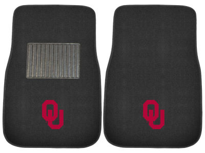 Oklahoma Sooners Fan Mats 2-Piece Embroidered Car Mat Set