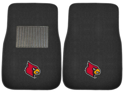 Louisville Cardinals Fan Mats 2-Piece Embroidered Car Mat Set