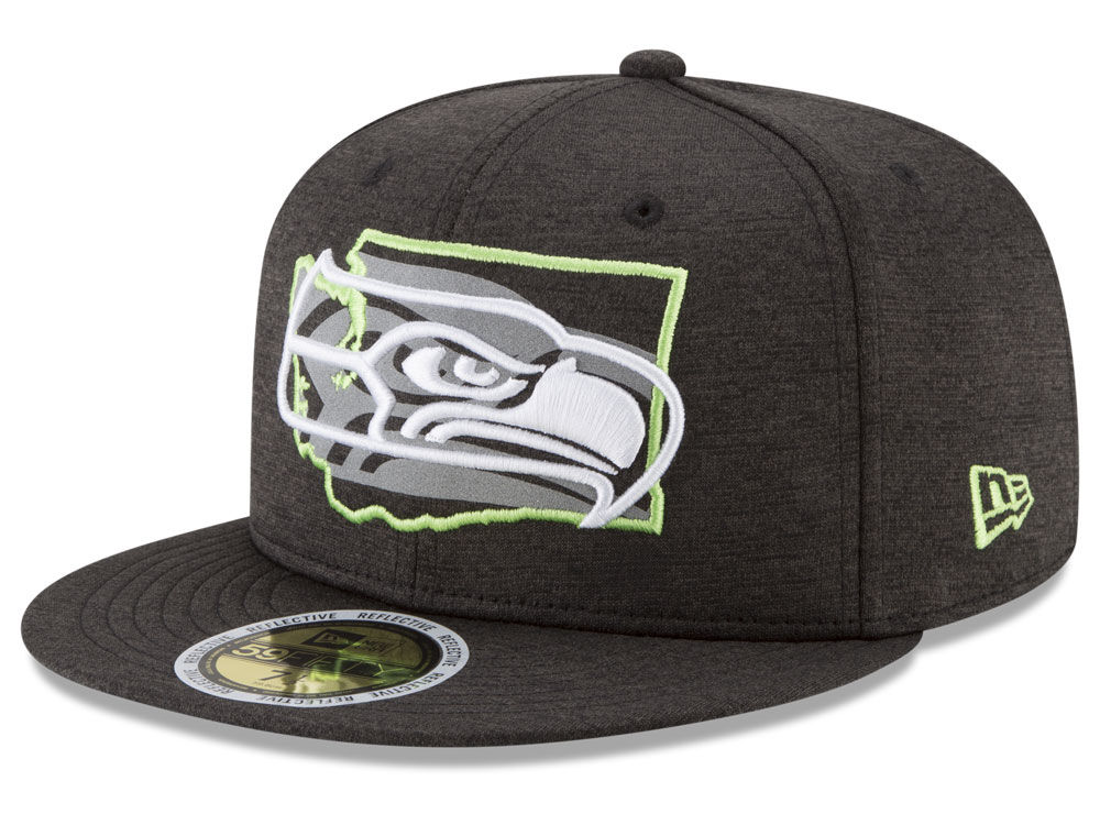 6d268c018 Seattle Seahawks New Era NFL State Flective 59FIFTY Cap