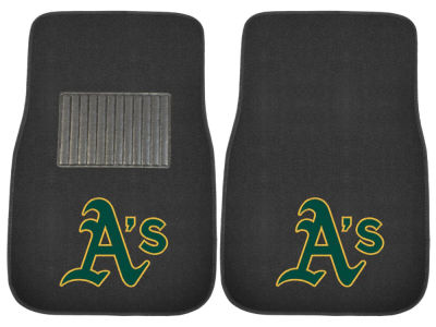 Oakland Athletics Fan Mats 2-Piece Embroidered Car Mat Set