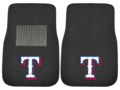Texas Rangers Fan Mats 2-Piece Embroidered Car Mat Set