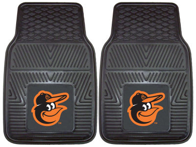 Baltimore Orioles Fan Mats 2 Piece Vinyl Car Mat Set