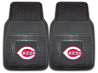 Cincinnati Reds Fan Mats 2 Piece Vinyl Car Mat Set