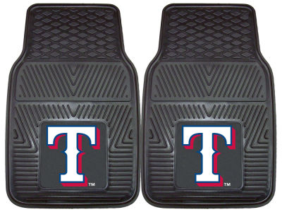 Texas Rangers Fan Mats 2 Piece Vinyl Car Mat Set