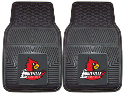 Louisville Cardinals Fan Mats 2 Piece Vinyl Car Mat Set