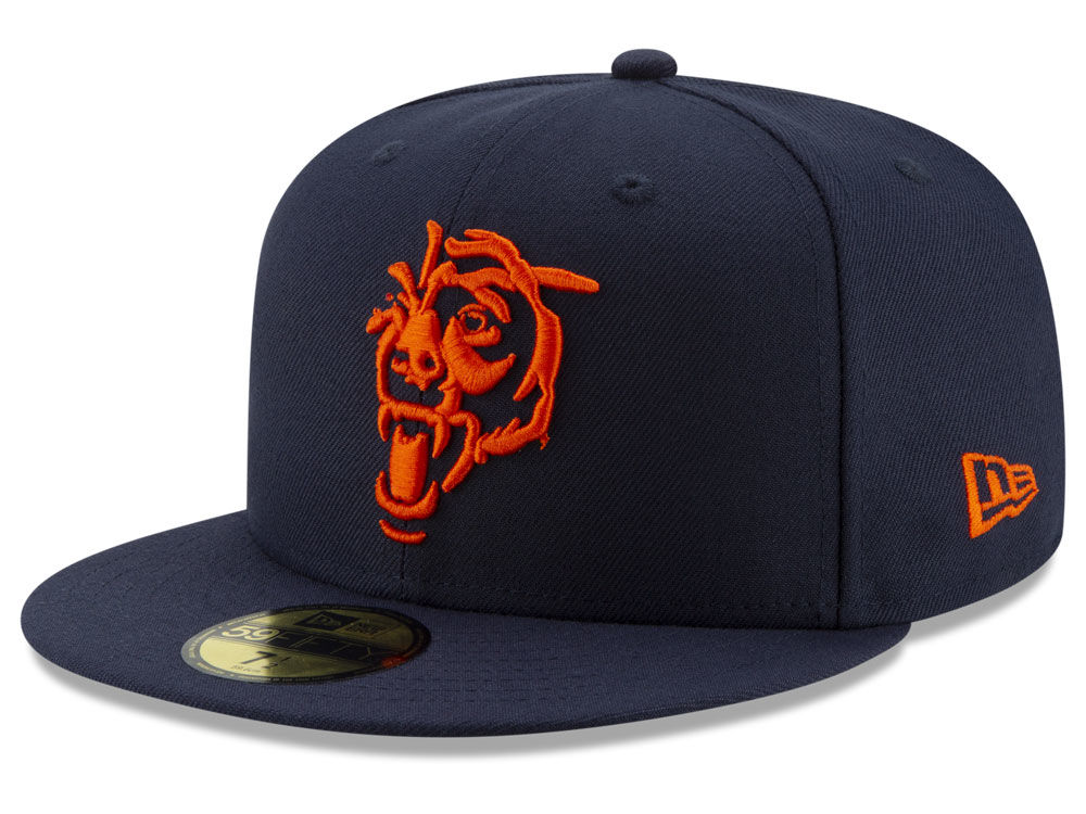Chicago Bears New Era NFL Logo Elements Collection 59FIFTY Cap ... 0a00dc58350