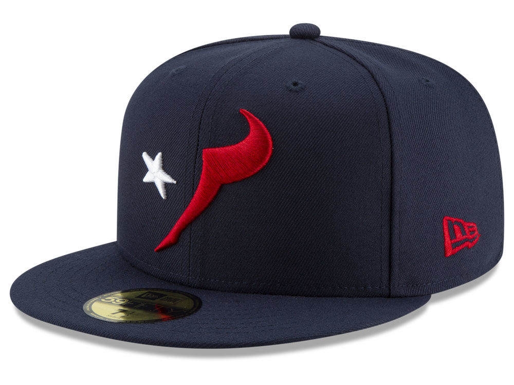 5fe1ce1347b Houston Texans New Era NFL Logo Elements Collection 59FIFTY Cap ...