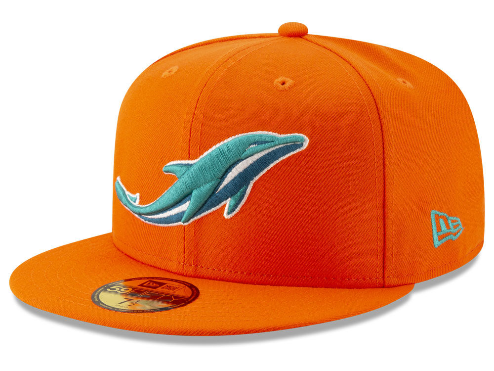 Miami Dolphins New Era NFL Logo Elements Collection 59FIFTY Cap ... ed7675d3f8a