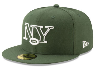 New York Jets New Era NFL Logo Elements Collection 59FIFTY Cap 927b8e169e42