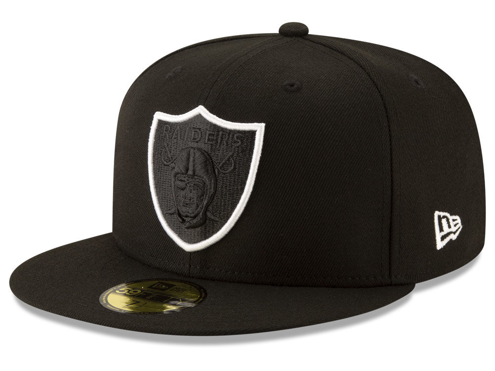 10e8be848a1 Oakland Raiders New Era NFL Logo Elements Collection 59FIFTY Cap ...