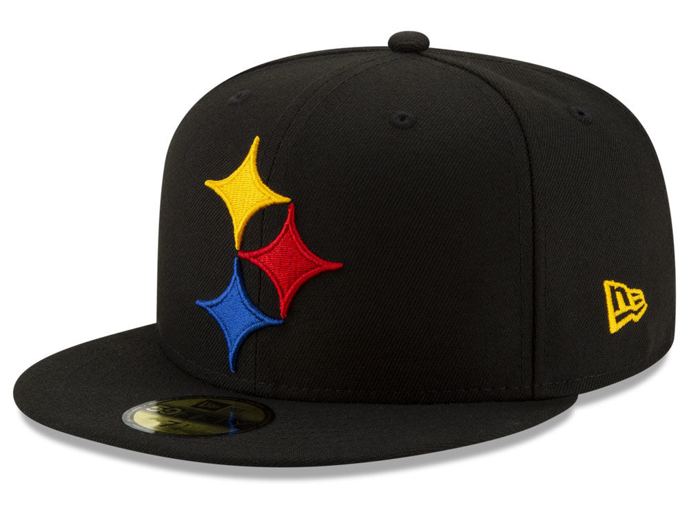 Pittsburgh Steelers New Era NFL Logo Elements Collection 59FIFTY Cap ... a3627d8640fd