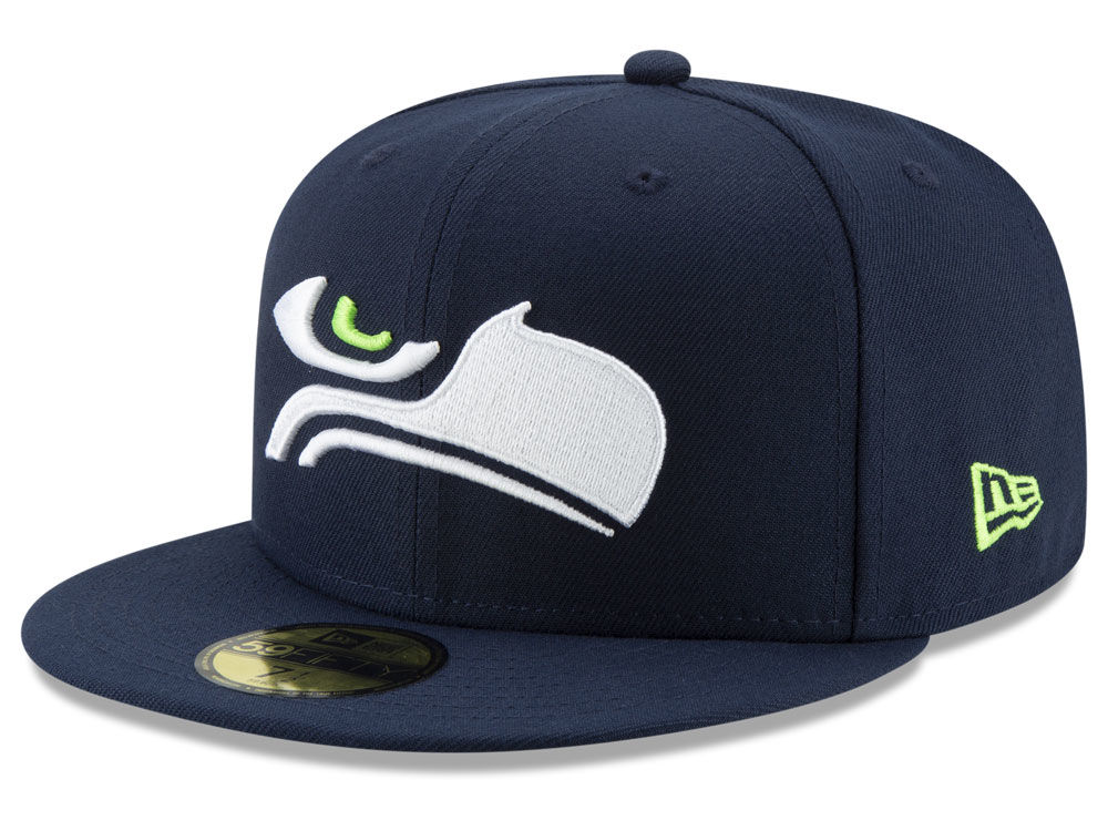 Seattle Seahawks New Era NFL Logo Elements Collection 59FIFTY Cap ... 70d3ac1e212