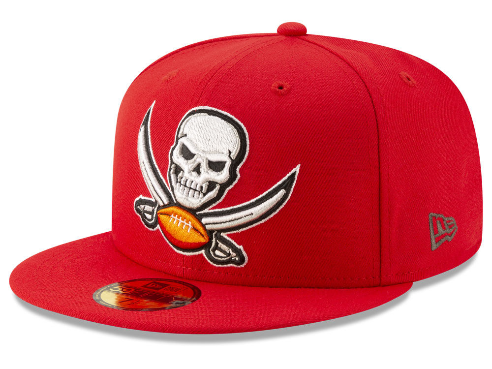 Tampa Bay Buccaneers New Era NFL Logo Elements Collection 59FIFTY Cap  d7a0fc7dbc0