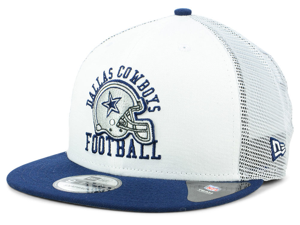 Dallas Cowboys New Era NFL Vintage Mesh Trucker 9FIFTY Snapback Cap ... c37e09ecd5f