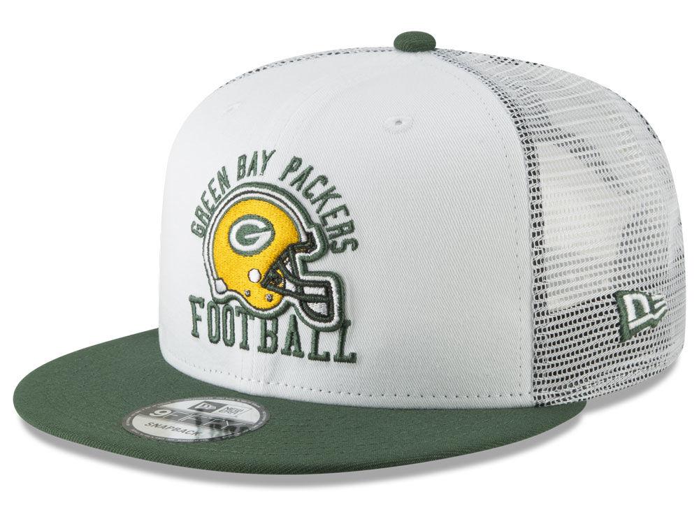 88723b695bf Green Bay Packers New Era NFL Vintage Mesh Trucker 9FIFTY Snapback Cap