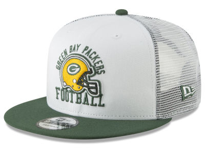 Green Bay Packers New Era NFL Vintage Mesh Trucker 9FIFTY Snapback Cap