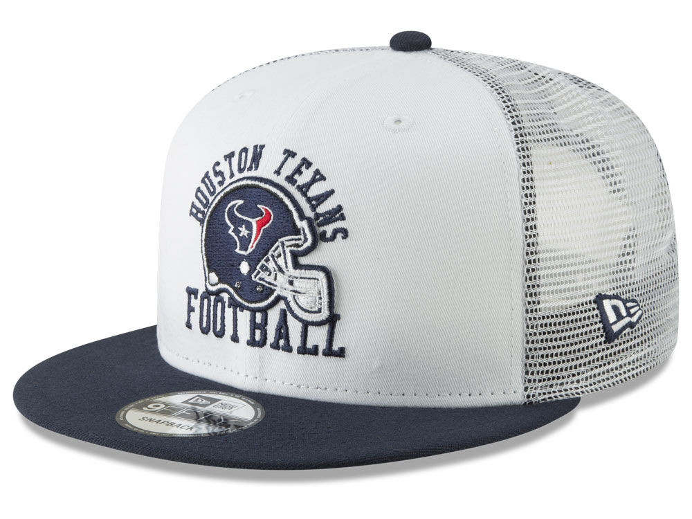 Houston Texans New Era NFL Vintage Mesh Trucker 9FIFTY Snapback Cap ... 100c90110