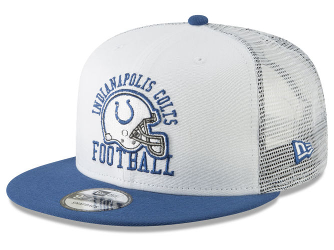 Indianapolis Colts New Era NFL Vintage Mesh Trucker 9FIFTY Snapback Cap  599fab83632b