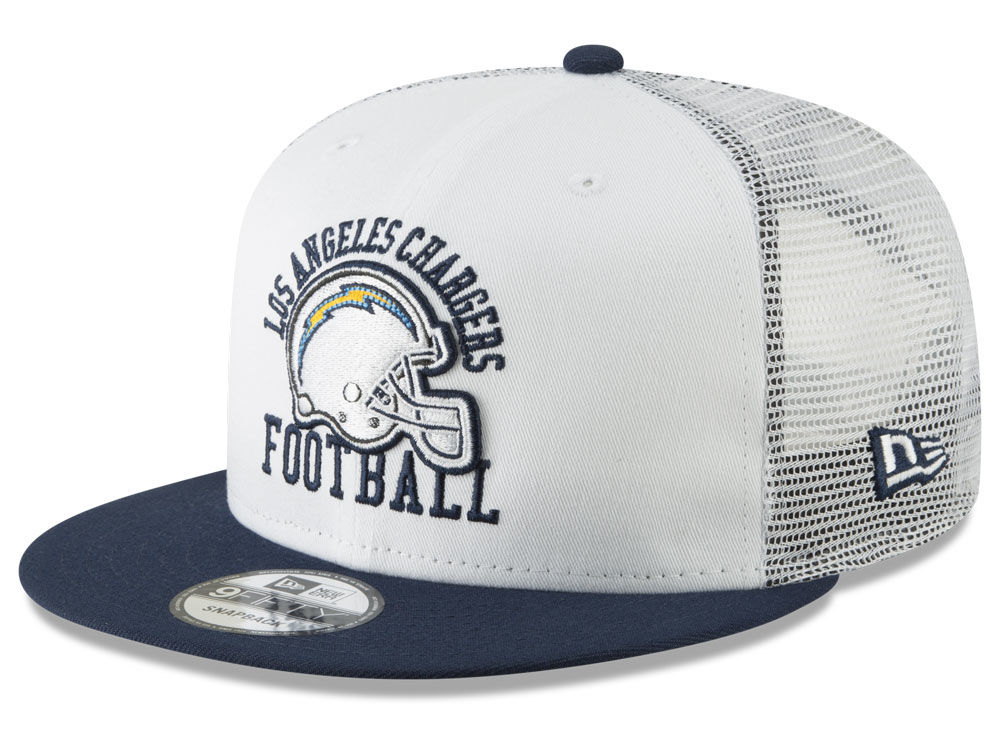 a8042eb2366 Los Angeles Chargers New Era NFL Vintage Mesh Trucker 9FIFTY Snapback Cap