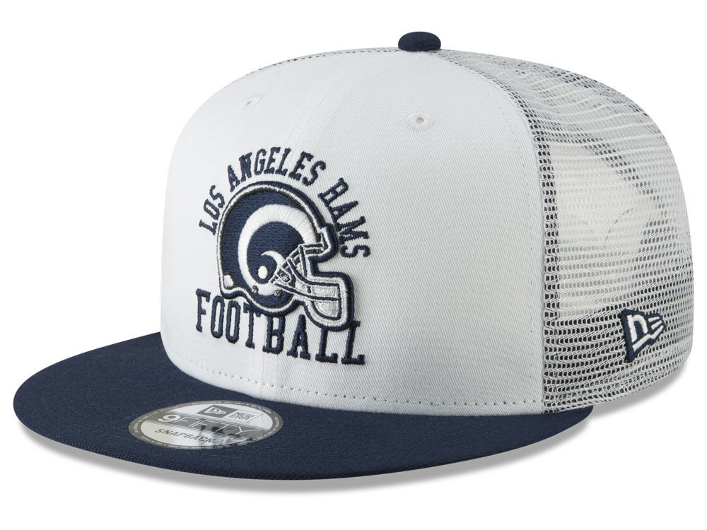 Los Angeles Rams New Era NFL Vintage Mesh Trucker 9FIFTY Snapback Cap  4560837622c
