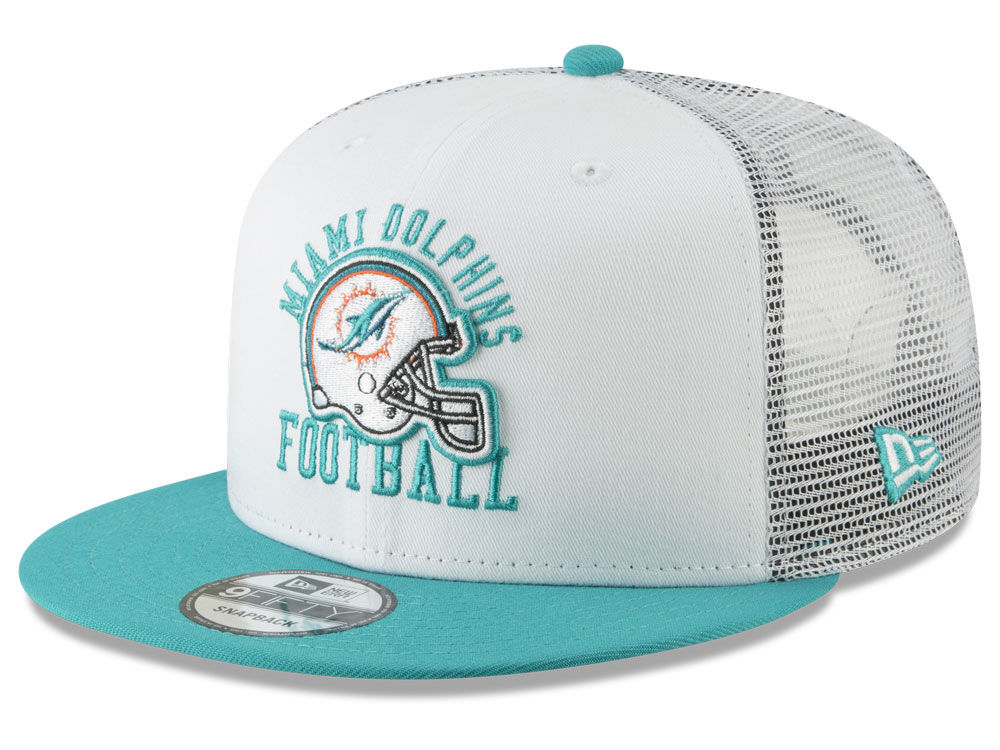 differently 0d122 85307 miami dolphins new era nfl vintage mesh trucker 9fifty snapback cap lids