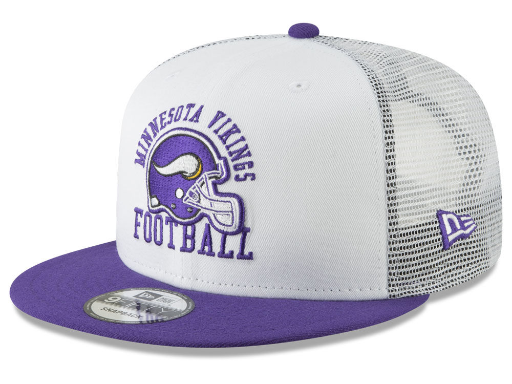 17f93ea1db9 Minnesota Vikings New Era NFL Vintage Mesh Trucker 9FIFTY Snapback Cap