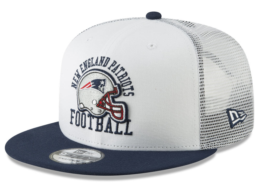 5ec28f6fa6d New England Patriots New Era NFL Vintage Mesh Trucker 9FIFTY Snapback Cap