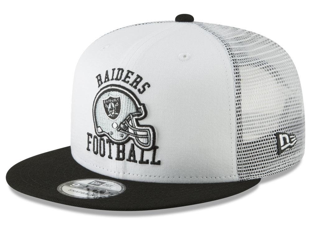 Oakland Raiders New Era NFL Vintage Mesh Trucker 9FIFTY Snapback Cap ... f5db2bf098f