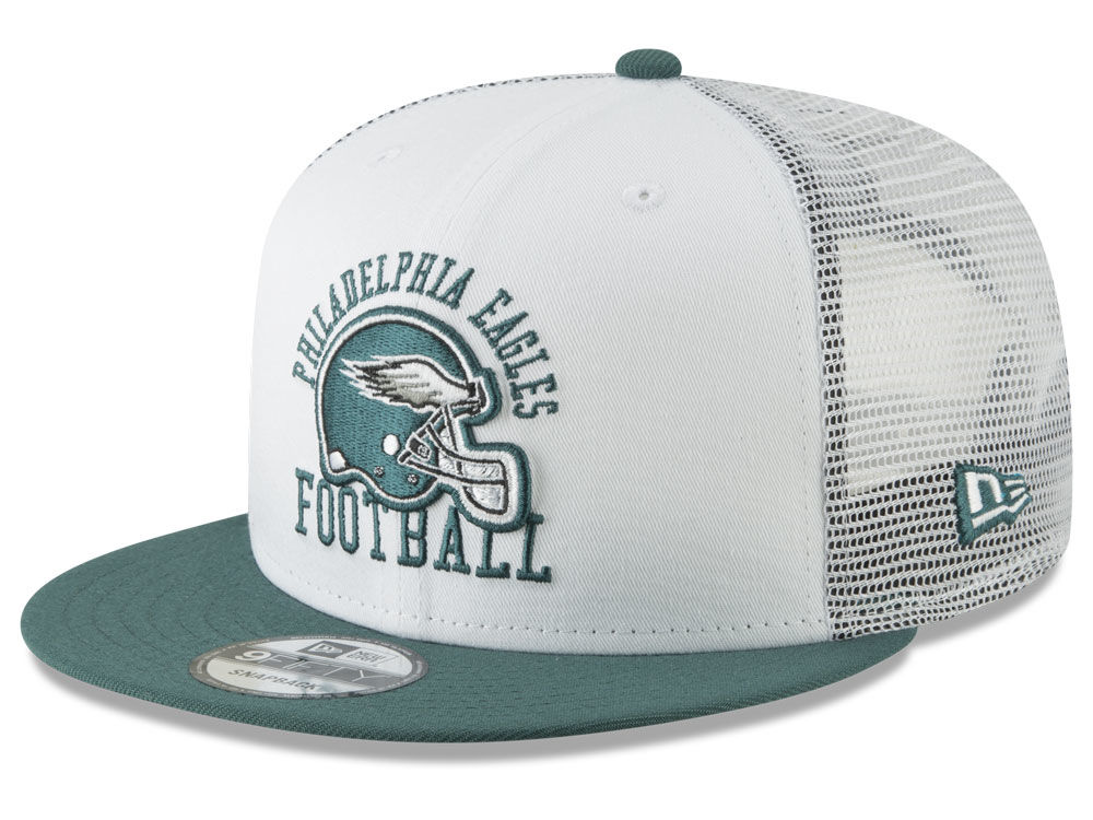 508314d3531 Philadelphia Eagles New Era NFL Vintage Mesh Trucker 9FIFTY Snapback Cap