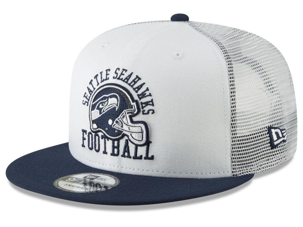 c4a99b072 Seattle Seahawks New Era NFL Vintage Mesh Trucker 9FIFTY Snapback Cap
