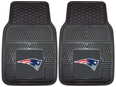 New England Patriots Fan Mats 2 Piece Vinyl Car Mat Set