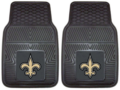 New Orleans Saints Fan Mats 2 Piece Vinyl Car Mat Set