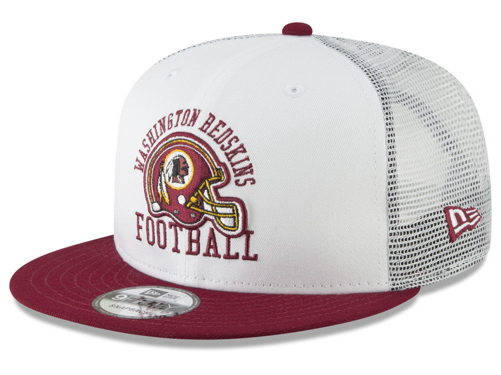 Washington Redskins New Era NFL Vintage Mesh Trucker 9FIFTY Snapback Cap  b73ae9359
