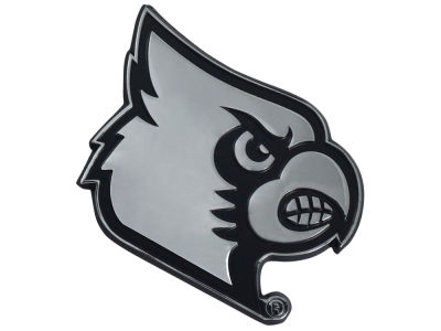 Louisville Cardinals Fan Mats Chrome Emblem