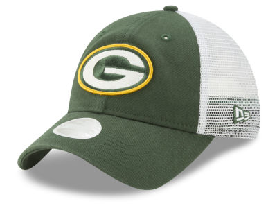 Green Bay Packers New Era NFL Women's Trucker Shine 9TWENTY Cap