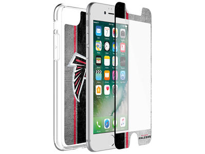 Atlanta Falcons OtterBox iPhone Alpha Glass Protector With Clear Case