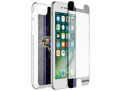 Baltimore Ravens OtterBox iPhone Alpha Glass Protector With Clear Case