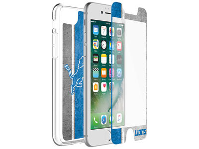Detroit Lions OtterBox iPhone Alpha Glass Protector With Clear Case