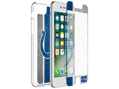 Indianapolis Colts OtterBox iPhone Alpha Glass Protector With Clear Case