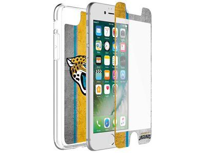 Jacksonville Jaguars OtterBox iPhone Alpha Glass Protector With Clear Case