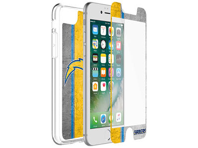 Los Angeles Chargers OtterBox iPhone Alpha Glass Protector With Clear Case