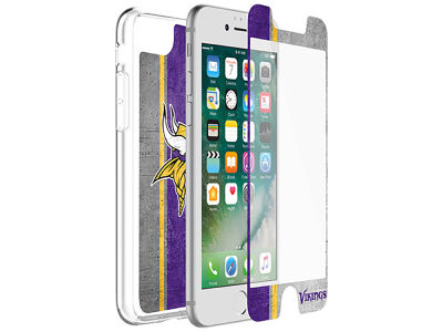 Minnesota Vikings OtterBox iPhone Alpha Glass Protector With Clear Case