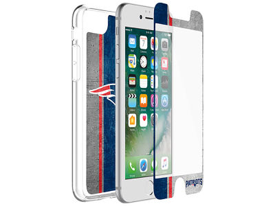 New England Patriots OtterBox iPhone Alpha Glass Protector With Clear Case
