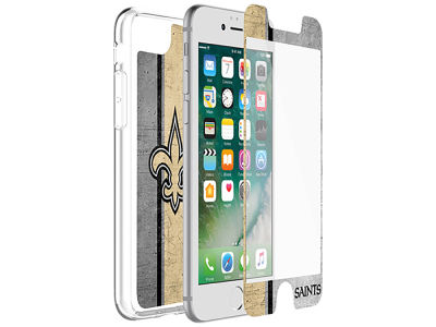 New Orleans Saints OtterBox iPhone Alpha Glass Protector With Clear Case