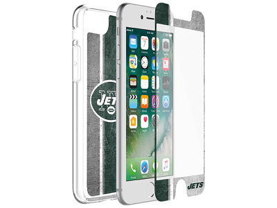 New York Jets OtterBox iPhone Alpha Glass Protector With Clear Case