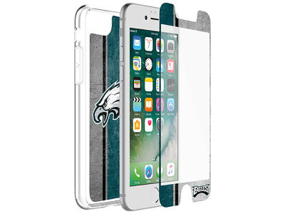 Philadelphia Eagles OtterBox iPhone Alpha Glass Protector With Clear Case